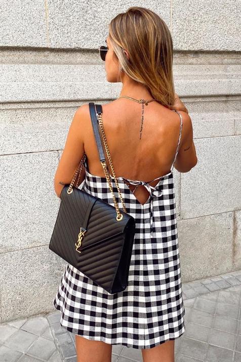 Vestido Zara Cuadros 2020