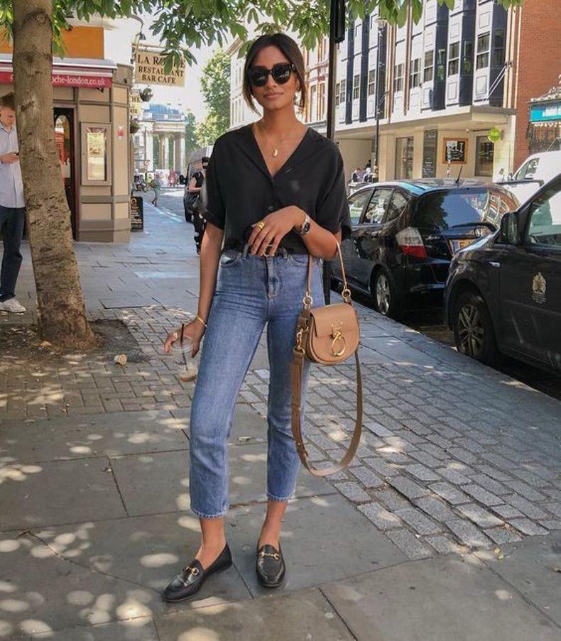 Negro y Jeans Ideas Trendy 2021