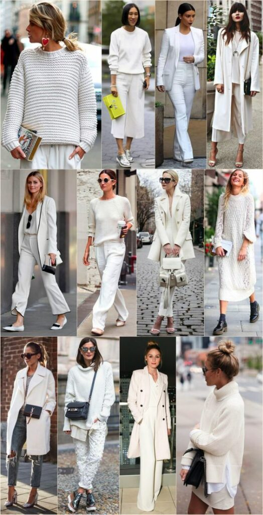 Looks en color blanco para todas las temporadas