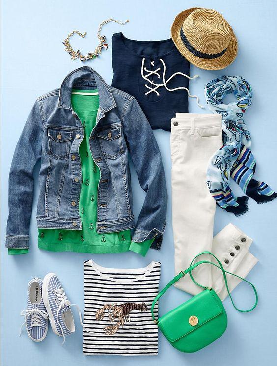 Idea de look con bolso de color verde