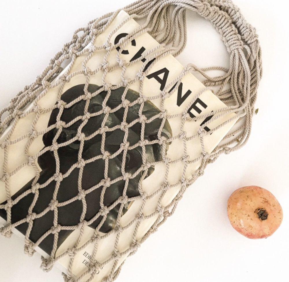 Los bolsos de red o la bolsa de malla y crochet son la tendencia 2021