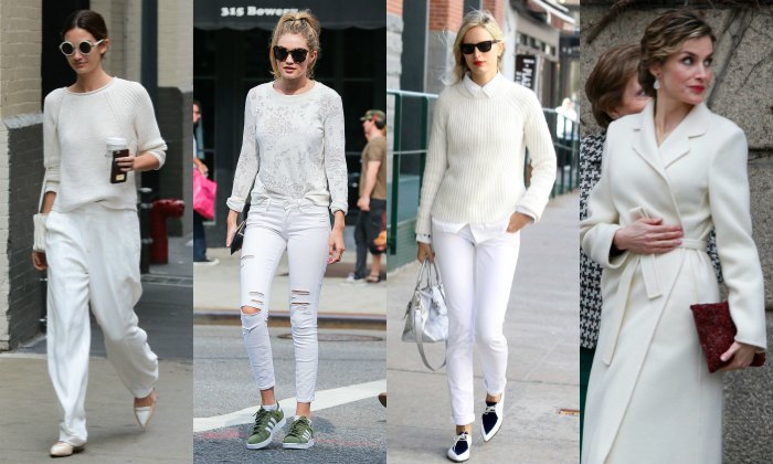 Catálogo Moda looks en total white