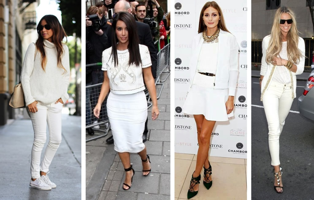Looks en blanco total