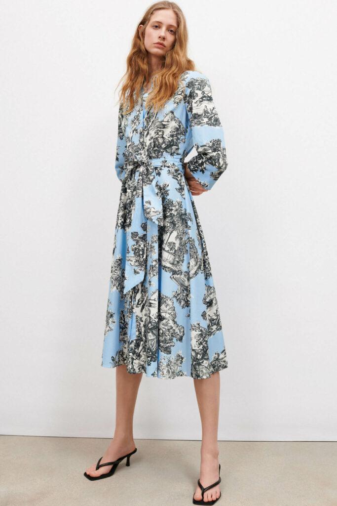Vestido Estampado Zara 2021