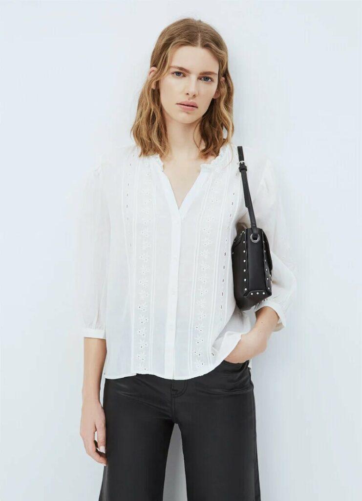 Blusa Blanca Pepe Jeans