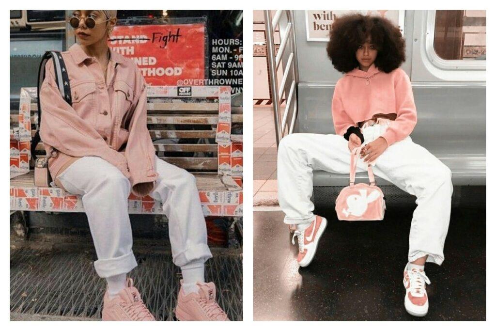 Los Mejores Looks con deportivas rosas