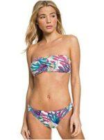 Roxy Into The Sun Conjunto De Bikini Bandeau para b0825plryy