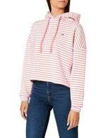 Tommy Jeans TJW BXY Crop Stripe Hoodie Sudadera b08l829gjb