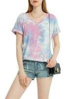 MessBebe Camiseta Mujer Verano Manga Corta Blusa b08r8x765q