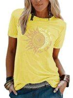 Abtel Camiseta de verano para mujer con estampado de b09532lqrv