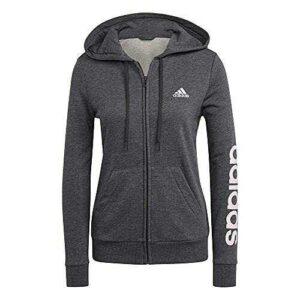 adidas GL0793 W Lin FT FZ HD Sweat Womens Dark Grey b08l845275