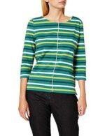 Gerry Weber T-Shirt 3/4 Arm Camiseta Verde Ringel 50 b08wc828y1