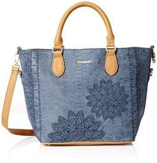 Desigual Bolsa AQUILES FLORIDA Mujeres Azul b07bg81sg6