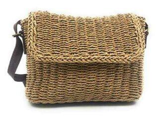 ShopINess Bolso pequeño de rafia (Camel) b089qgknfm