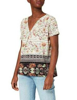 Desigual TS_CRACOVIA Camiseta Blanco L para Mujer b08cn5fczw