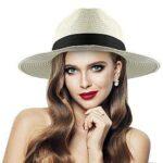 Sombrero De Paja para Mujer Floppy Plegable b07mqt421s