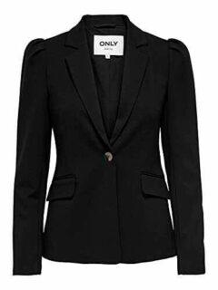 Only ONLTASIA-VIKE L/S Puff Blazer CC TLR Negro 44 b08t9y8brw