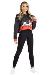 Disney Sudadera Mujer Sudadera Crop Top con Minnie b08j79crrt