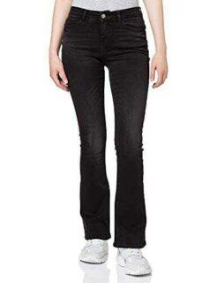 Noisy May NMMARLI NW Slim Flare Jeans BL Black Denim b08xzp5ryx