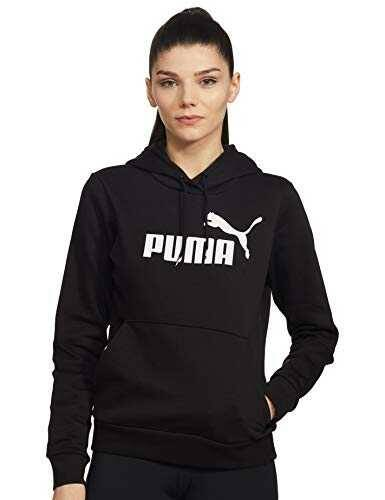 PUMA ESS Logo FL Sudadera Mujer Negro (Cotton Black) b07dtgx948
