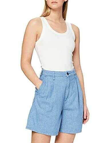 Lee Stella Pleated Short Pantalones Cortos Lente b08cw32vxq