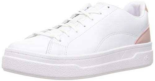 CARE OF by PUMA Leather Platform Court Zapatillas b085gr5tf1