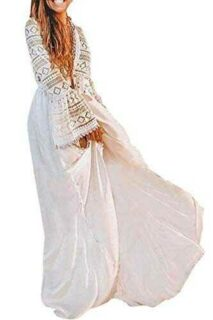 LikeJump Vestido Bohemia de Playa Kaftan Kimono b083hcsmrk