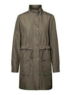 Vero Moda VMPERNILLEUNI 3/4 Jacket Gabardina verde b084ldbmky