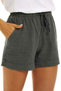 SMENG Pantalones cortos para mujer con cordón y b09bysnqfx