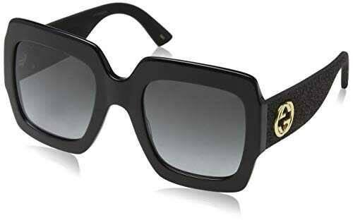 Gucci GG0102S 001 Gafas de sol Negro (Black/Grey) 54 b06zzgml1d