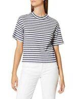 Marca Amazon find. Camiseta de Rayas de Canalé b07d1cldf5