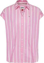 Tommy Jeans TJW Relaxed Stripe Shirt SS Camisa b08c926zh6