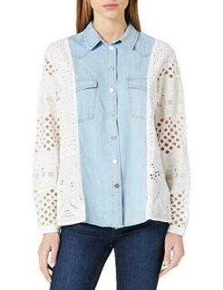 Desigual CAM_Indo Camiseta Blanco XL para Mujer b08cn6ljmp