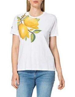 Desigual TS_Lemons Camiseta Blanco M para Mujer b08cn62ggy