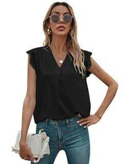SOLY HUX Elegante blusa de verano para mujer cuello b094csjg8x