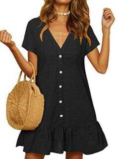 YOINS Vestido de Verano para Mujer Mini Vestido de b085nk3sd3