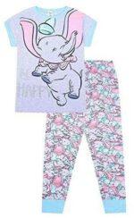 Disney Dumbo Be Happy Pijama largo de algodón para b08l1yvdft