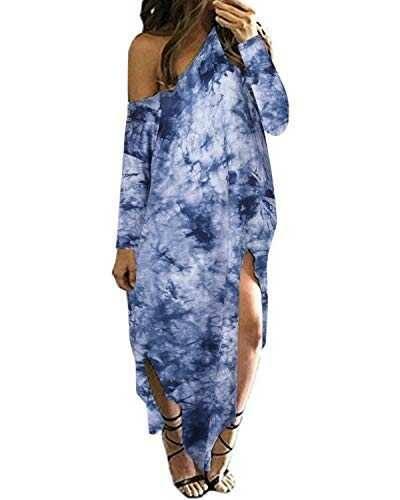 Kidsform Vestidos de Mujer Vestido de Verano Cuello b087bwn2dl