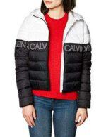Calvin Klein Outline Logo LW Hooded Puffer Chaqueta b0842sss3q