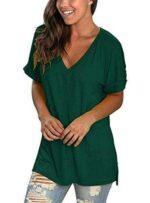 TEENSHOT Camiseta casual de verano con cuello en V b07sq69443