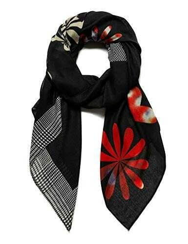 Desigual Foul_Logo Love Bufanda de Moda Black U para b083vb28zd