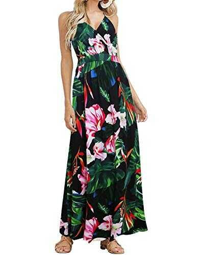 ACHIOOWA Mujer Vestido Elegante Casual Playa b07tvbtlgv