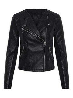Vero Moda Vmria FAV Short Faux Leather Jacket Noos b07l8mhf2s