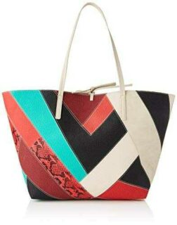 Desigual PU Shopping Bag Bolsa de la Compra para b08cmyzl6r