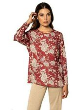 NAULOVER   Blusa con Estampado Floral (50) b08jh7qt8q