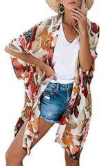 Kimono para Mujer Cárdigan Largo Kimono Floral b082f77mkv