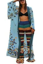 YouKD Kimono Bohemio de Manga Larga cárdigan Traje b0915gzf9q