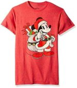 Disney Men's Christmas Mickey Mouse Santa Red b01mre5ax1