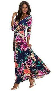Vestidos Estampados Flores Mujer de Verano Cuello b07f9kg2r5