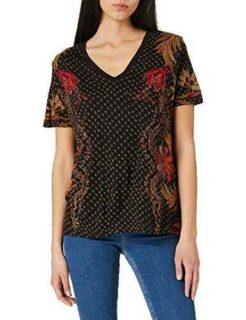 Desigual TS_Praga Camiseta Negro XXL para Mujer b08cxszm54